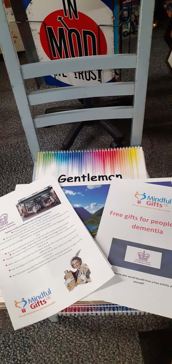 Free gifts for people with dementia at The Hidden Gem Antiques Emporium